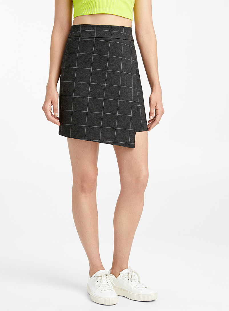 Asymmetric engineered jersey skirt - Short - Assorted