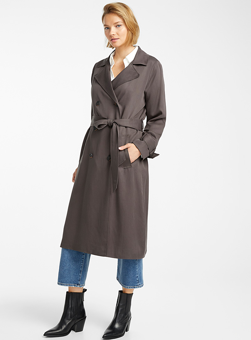 Contemporaine Sand Fluid lyocell trench for women
