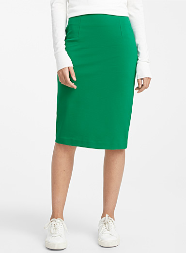 Structured jersey pencil skirt