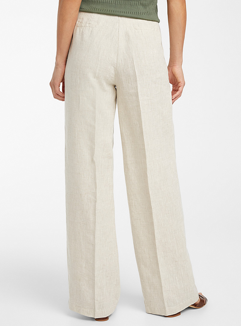 Contemporaine Sand Pure linen tie-waist pant for women