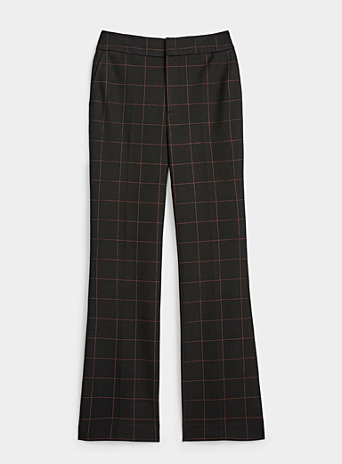 Icône Patterned Black Structured jersey flare pant for women