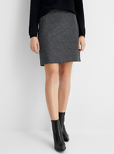 Contemporaine Patterned Blue Printed engineered jersey skirt for women