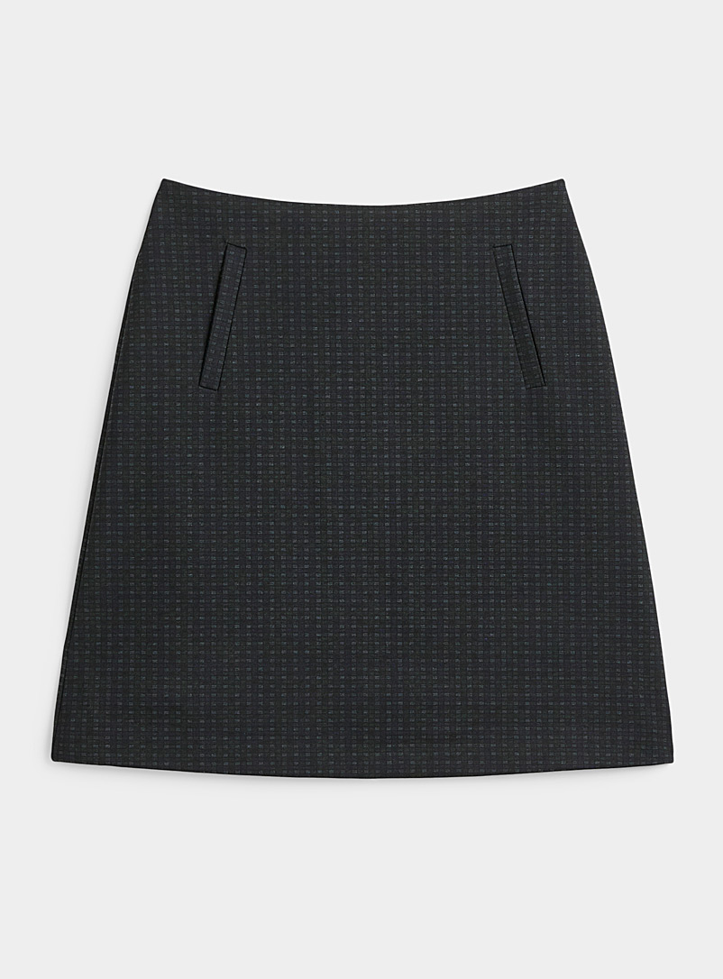 Contemporaine Patterned Black Printed engineered jersey skirt for women
