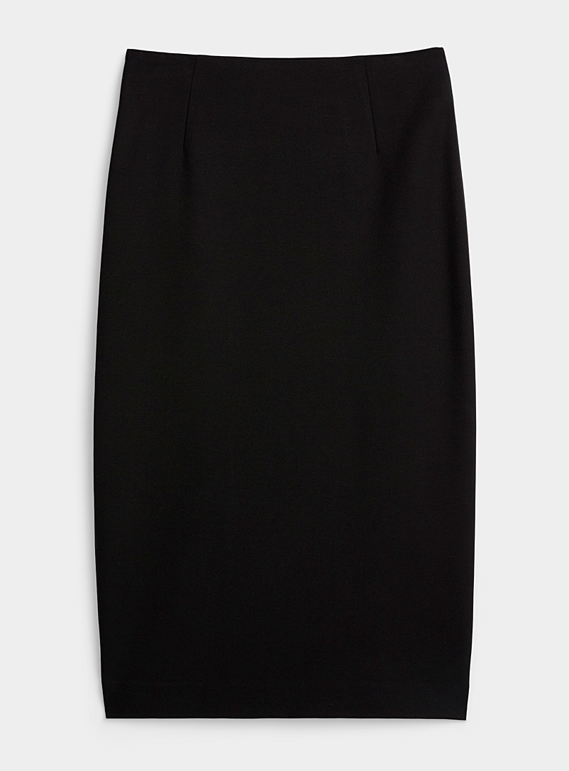 Icône Black Stretchy eco-friendly viscose pencil skirt for women
