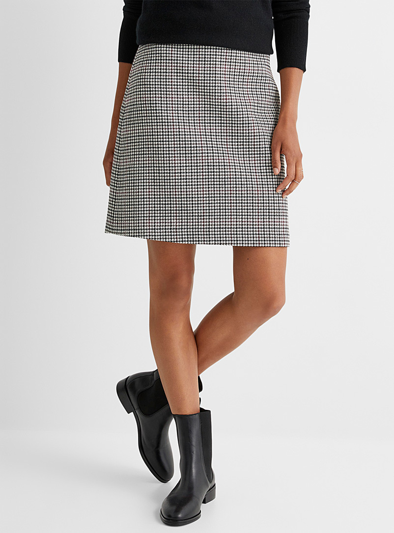 Contemporaine Patterned Grey Heritage plaid skirt for women