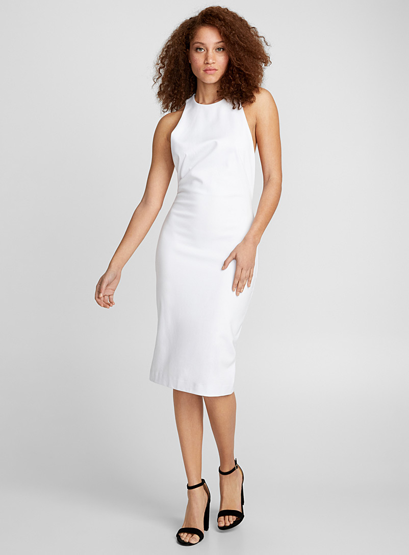 Open-side bodycon dress - Bodycon - White