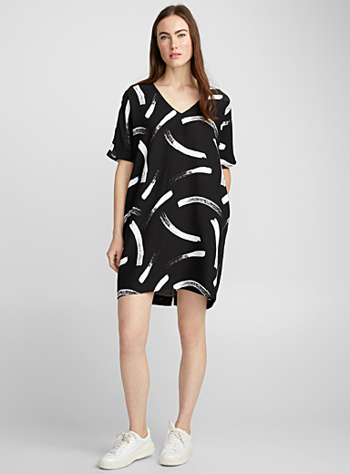 Loose crepe dress