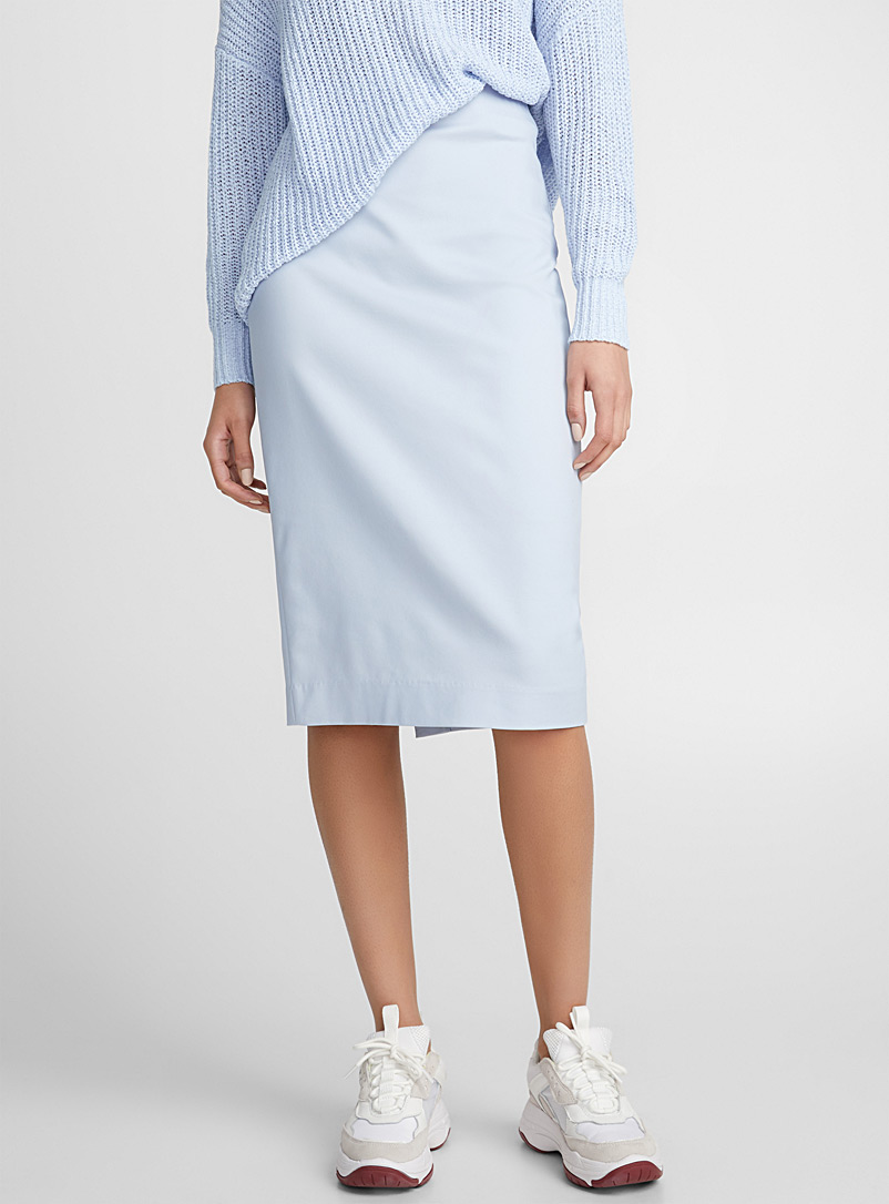 Stretch cotton pencil skirt - Skirts - Baby Blue