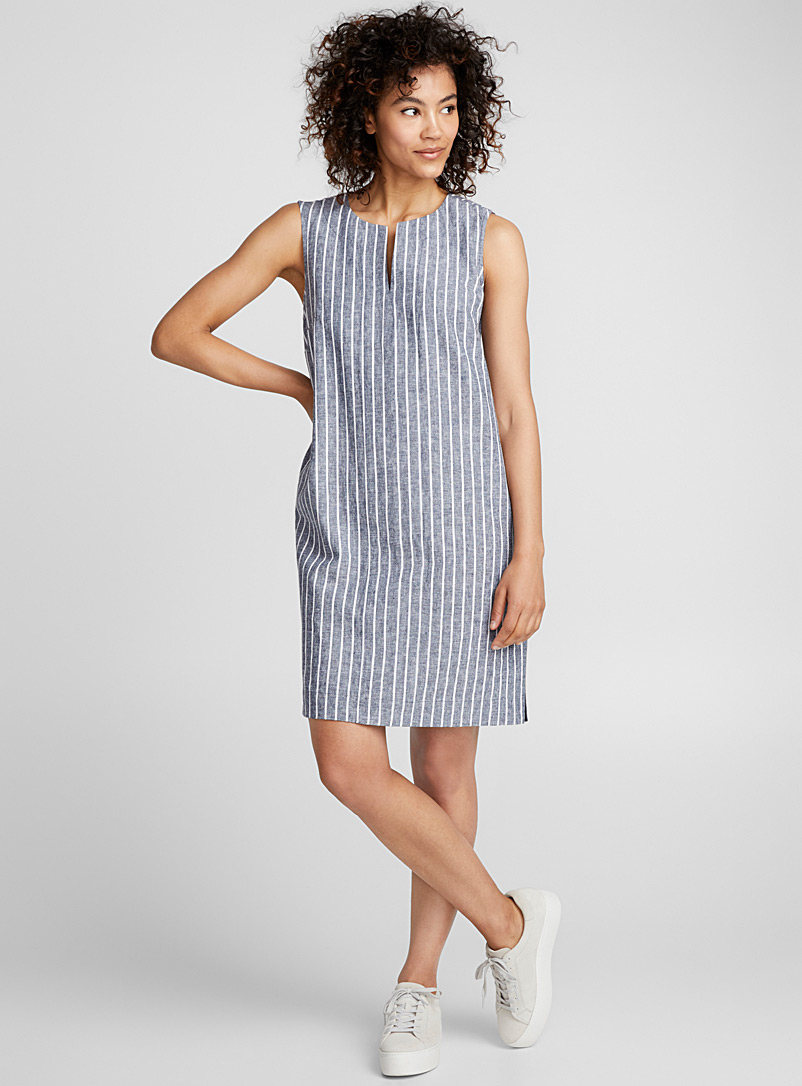 Pure linen shift dress - Straight