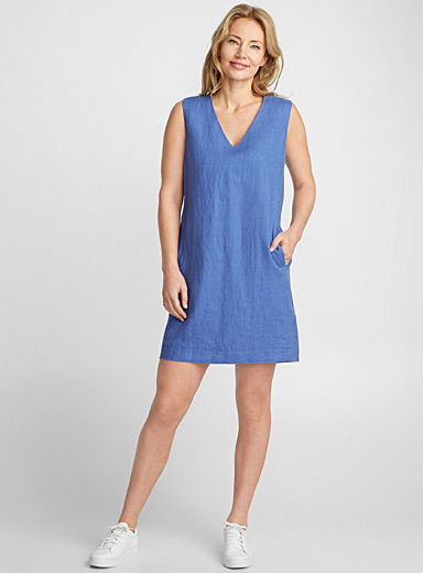 Minimalist pure linen dress