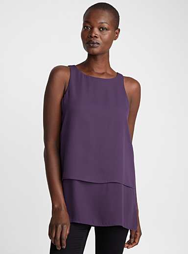 Two-tier fluid camisole