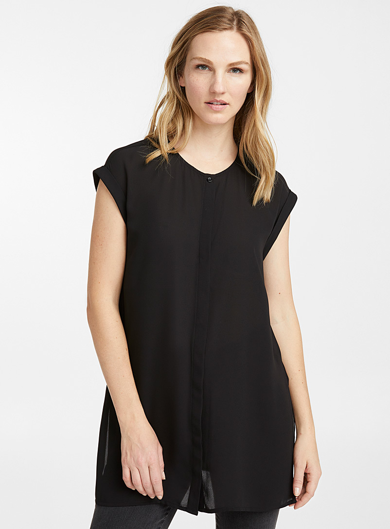 recycled-crepe-cuffed-sleeve-tunic