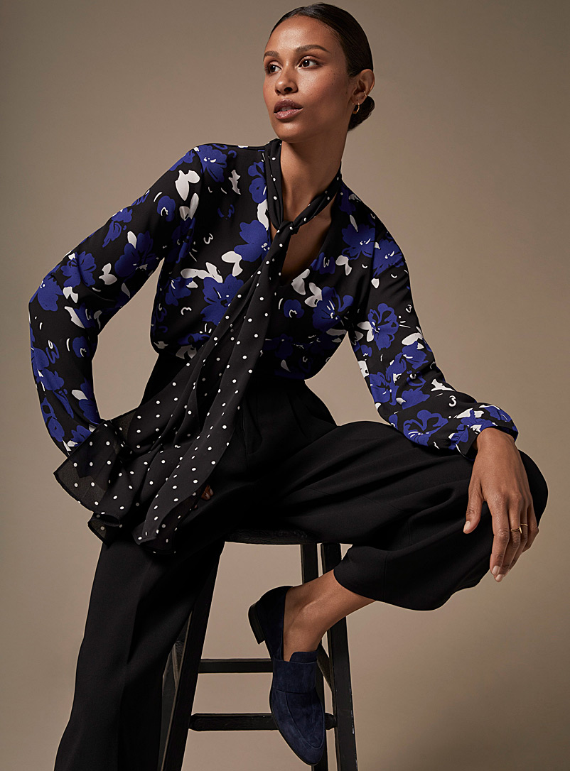 printed-recycled-crepe-tie-neck-blouse