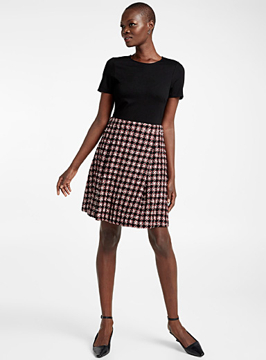 Ruby tweed-skirt dress
