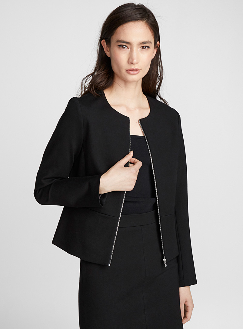 Engineered jersey zip jacket - Blazers - Black