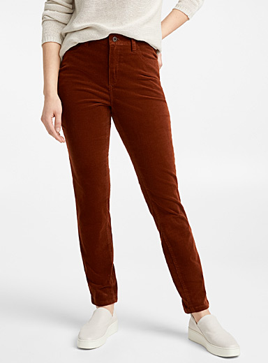 Slim-fit corduroy pant