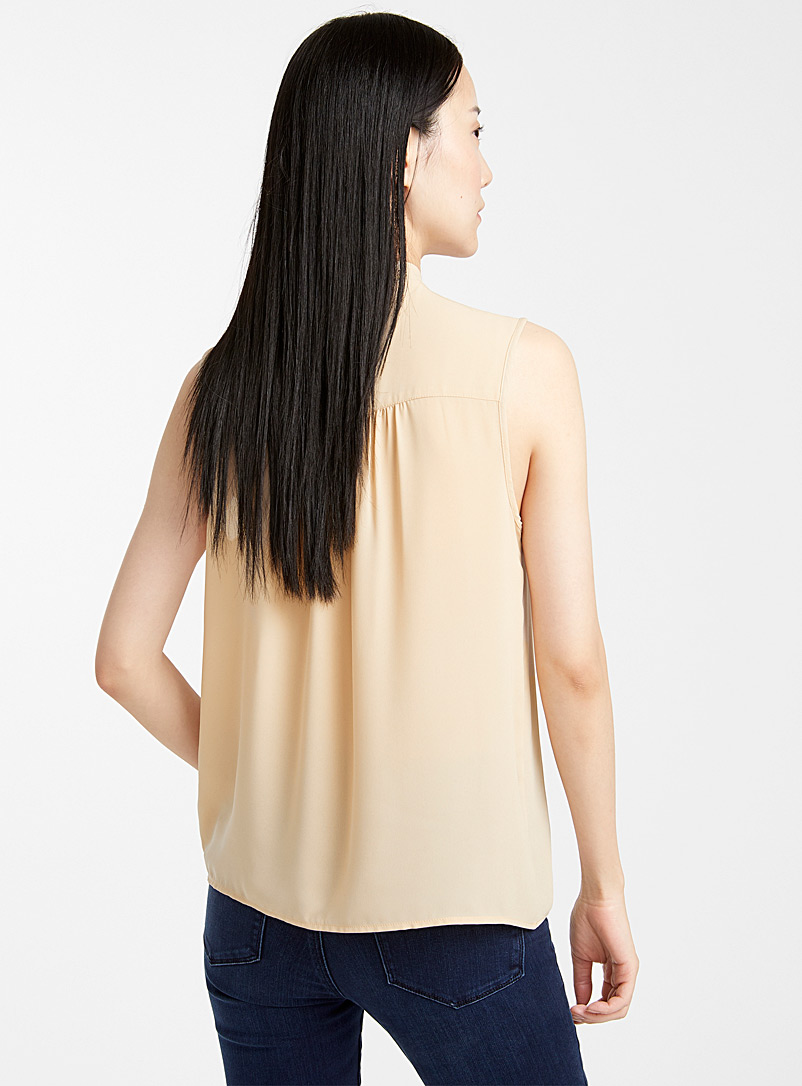 Contemporaine Fawn Recycled crepe tie-neck camisole for women