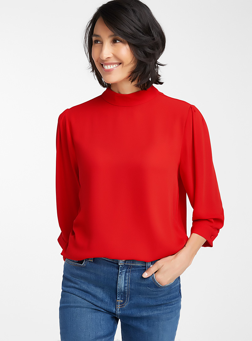 recycled-crepe-mock-neck-blouse