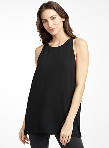 Recycled crepe tunic camisole