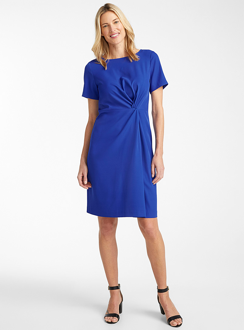 Contemporaine Blue Draped knot dress for women