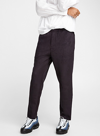 Suede-like pant