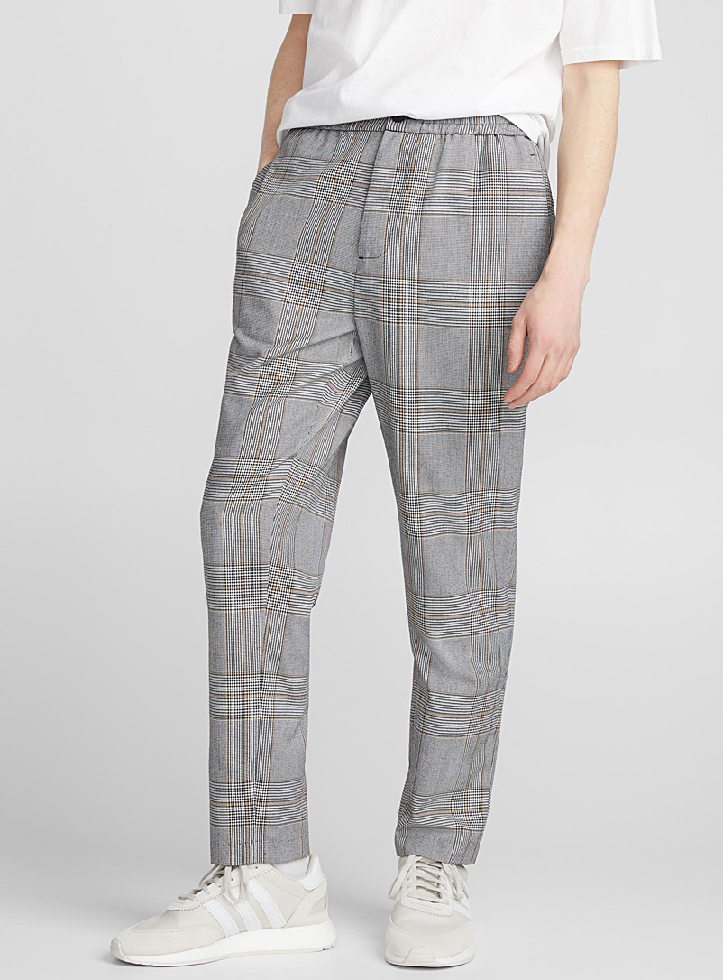 Retro check pant  Slim fit - New Proportions - Patterned Black