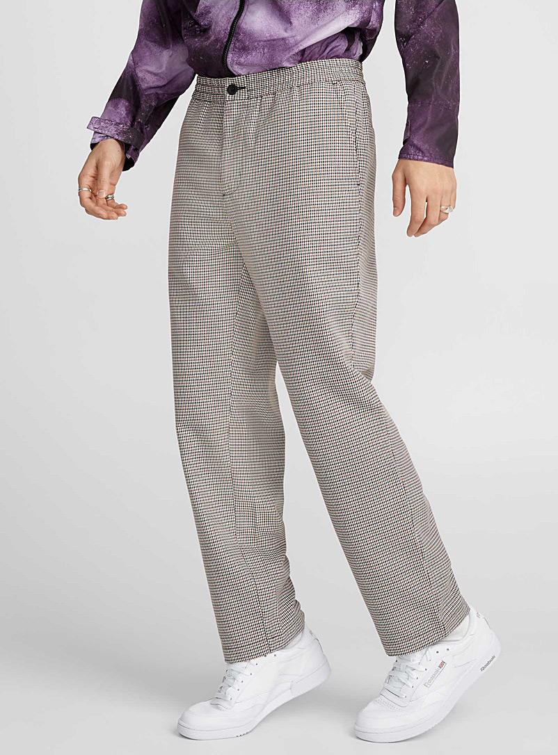Check pant - Straight fit - Patterned White