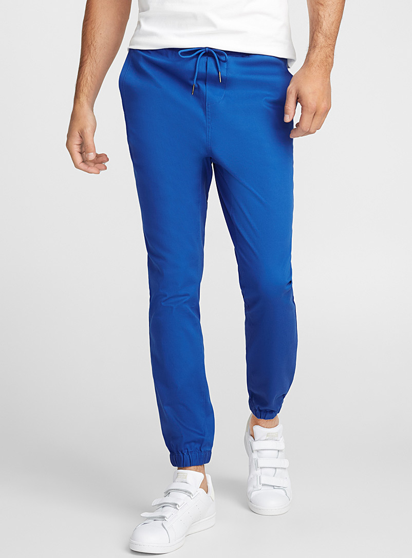 Stretch twill joggers - Joggers - Sapphire Blue