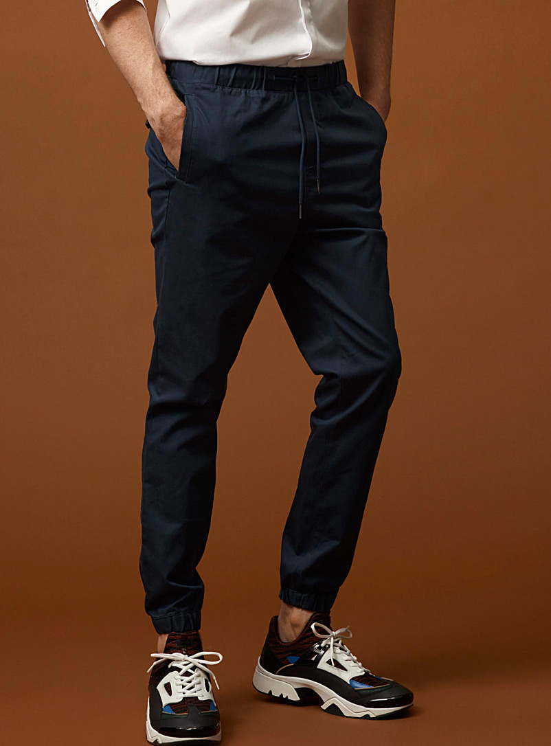 Stretch twill joggers - Joggers - Assorted
