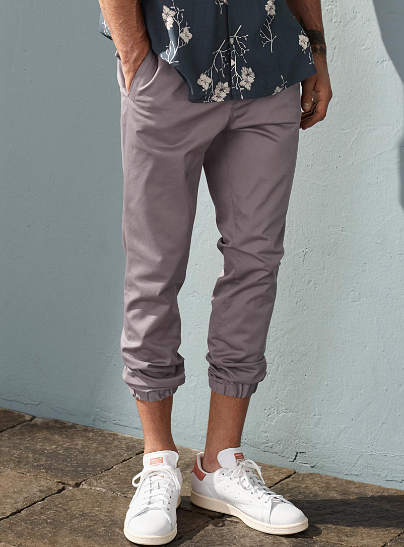 Le jogger toile extensible - Joggers - Lilas