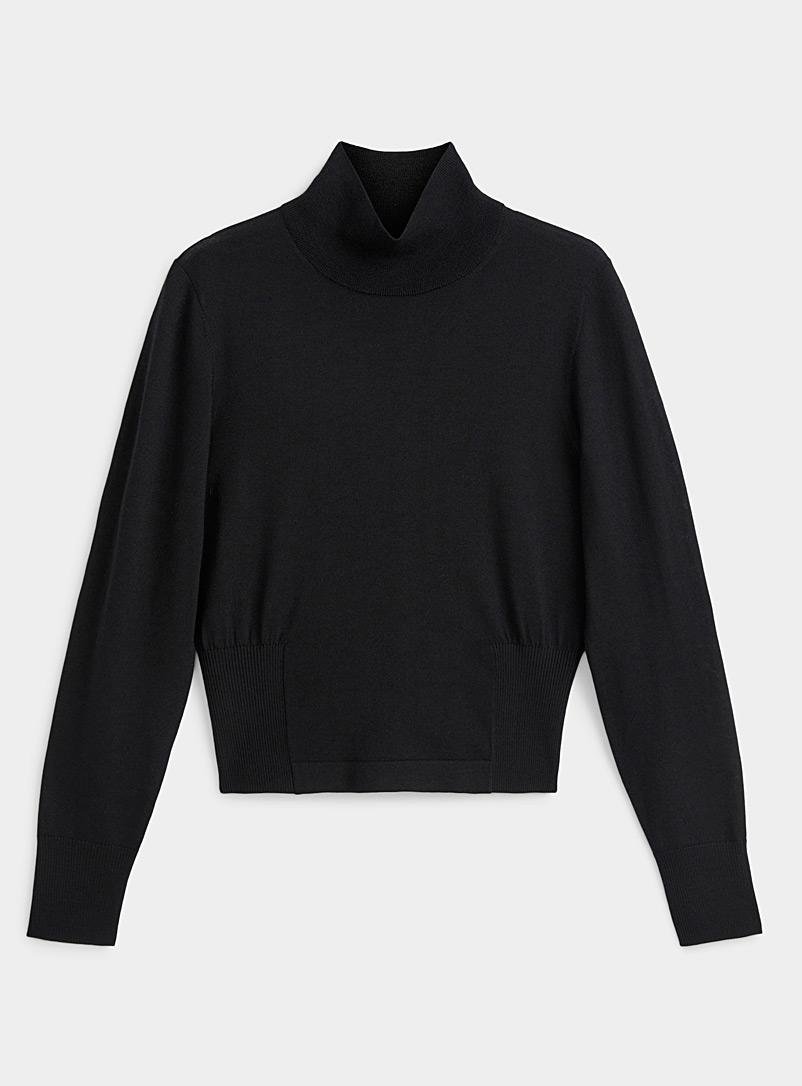 Dries Van Noten Black Wool mock neck for women