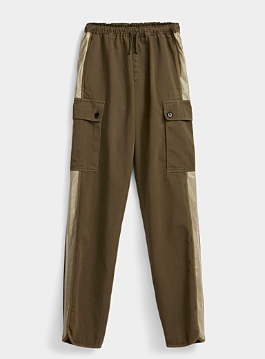 Dries Van Noten Khaki Polman cargo pant for men