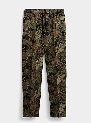 Dries Van Noten Khaki Perkino tropical pant for men