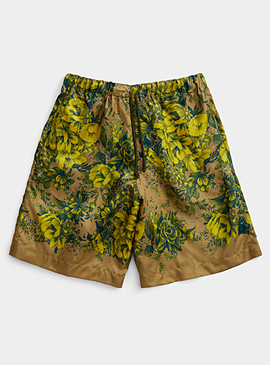 Dries Van Noten Honey Baroque flowers short for men