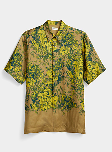 Dries Van Noten Honey Baroque flowers shirt for men