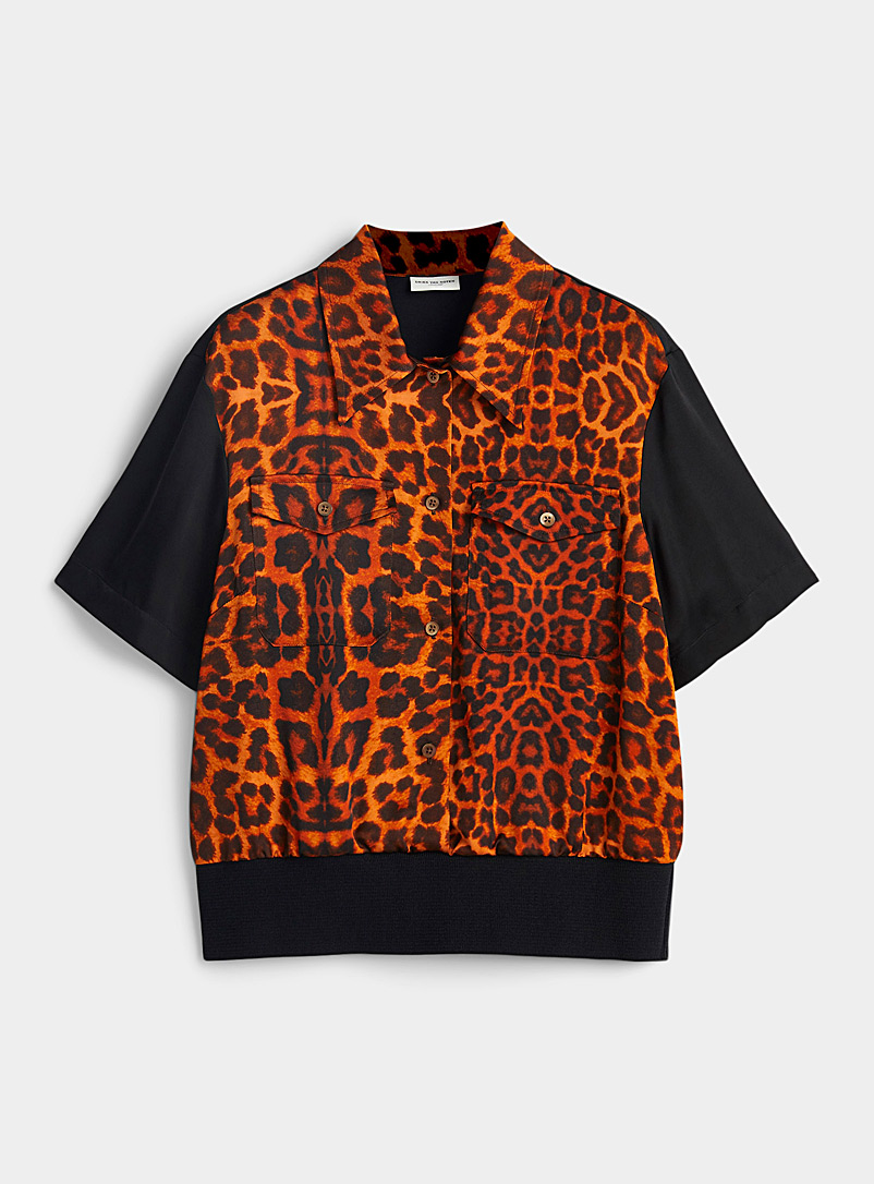 Dries Van Noten Copper Cooper leopard blouse for women
