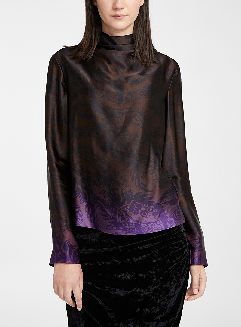 Dries Van Noten Black Chiala ombré blouse for women