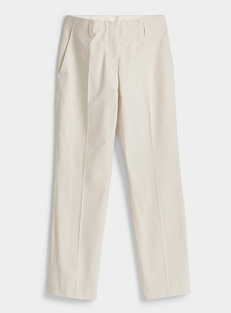 Dries Van Noten Ivory White Paola classic pant for women