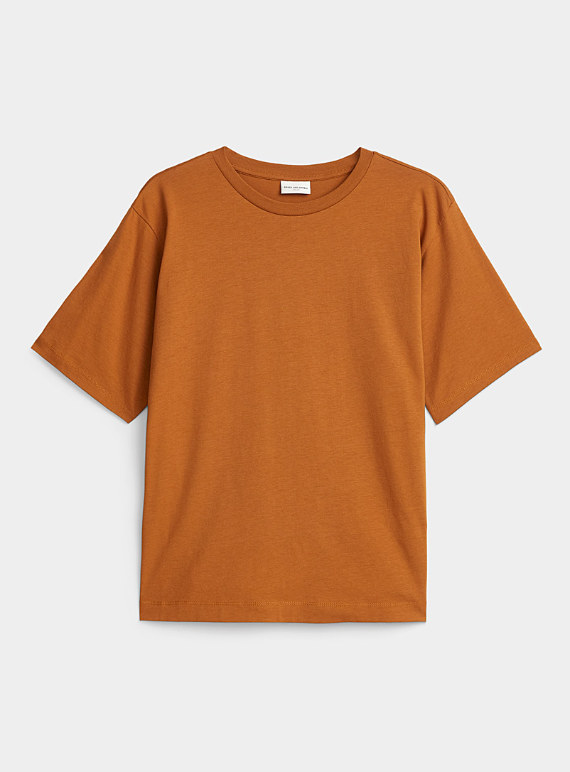 Dries Van Noten Copper Relaxed fit tee for women