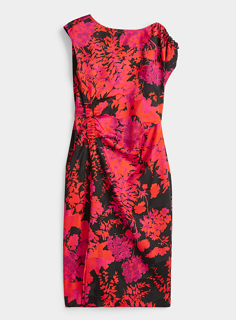Dries Van Noten Red Deto floral midi dress for women