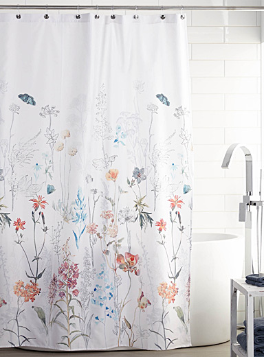 Flowering fields shower curtain