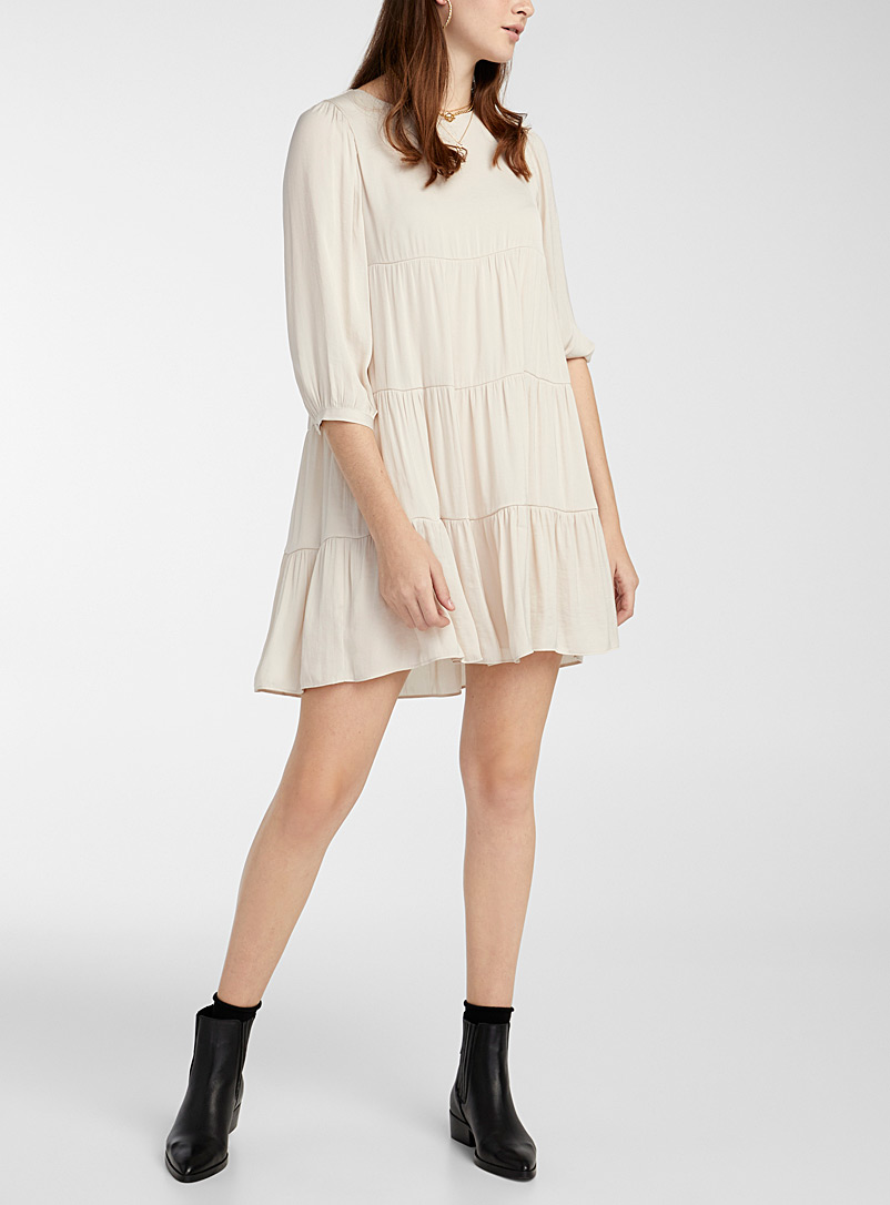 Satiny boho dress
