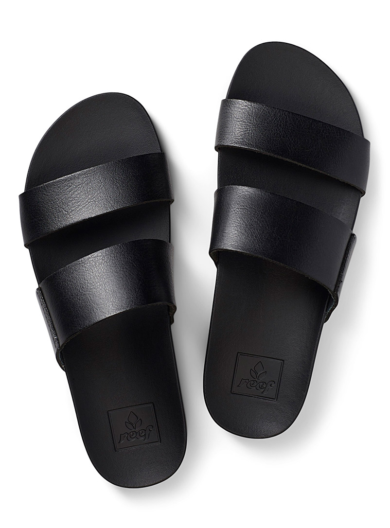 Reef Black Cushion Bounce Vista flip-flops for women