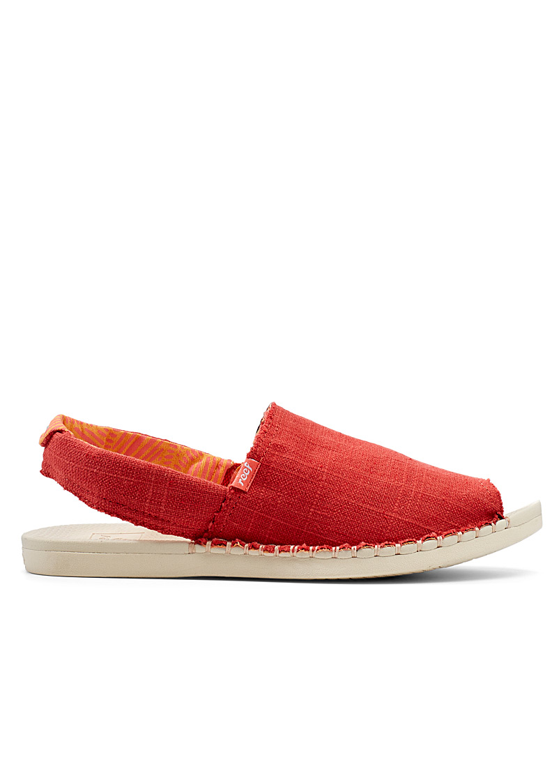 Reef Orange Escape red sandals for women