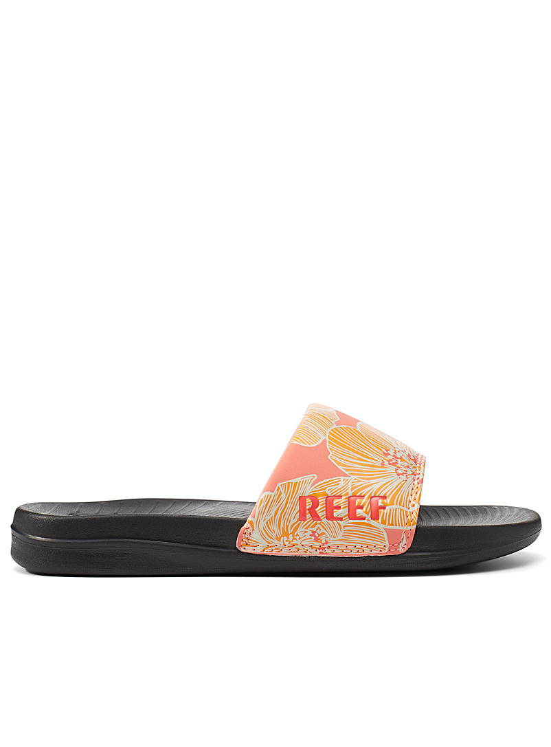 Reef Golden Yellow Floral One slides for women