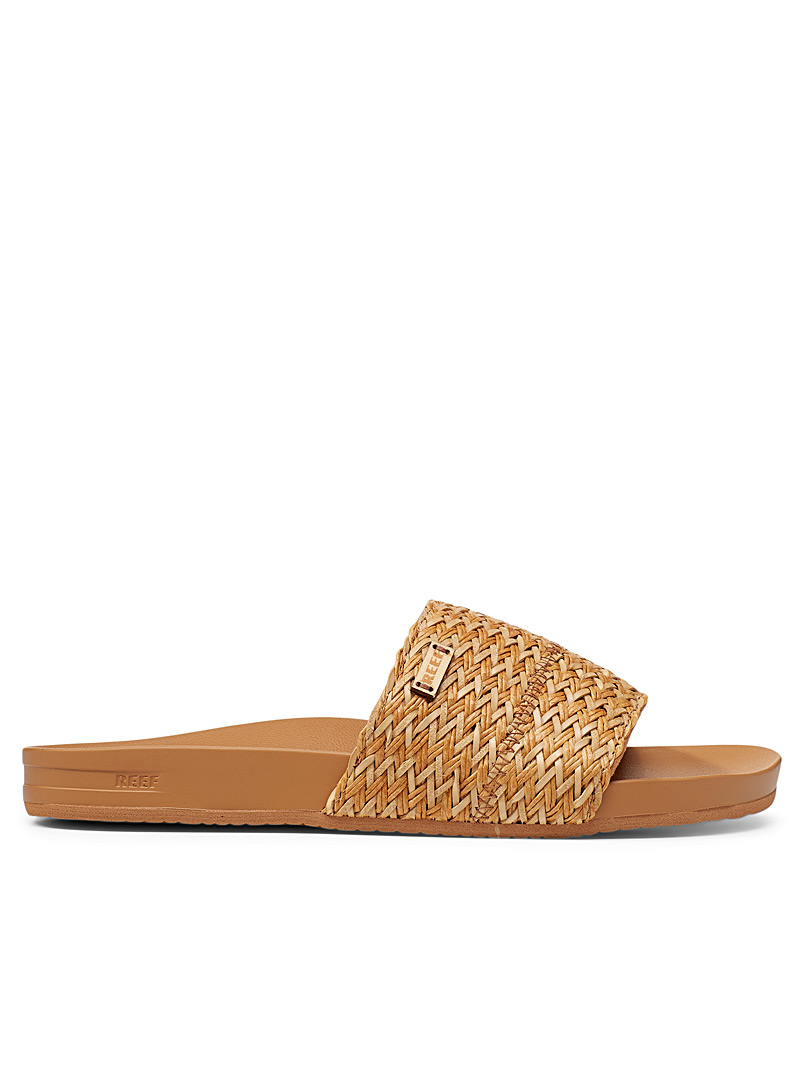 Reef Brown Scout Braids slides for women