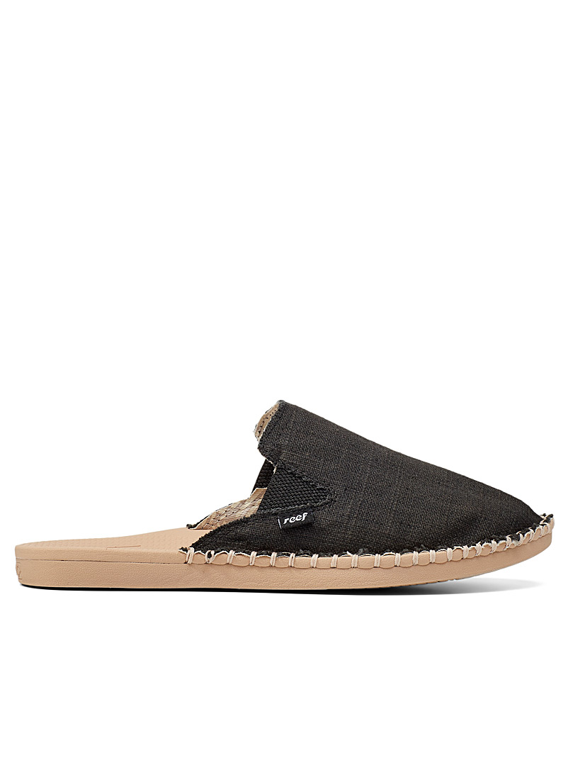 Reef Black Escape mules for women