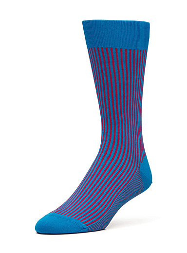 Vertical stripe dress socks