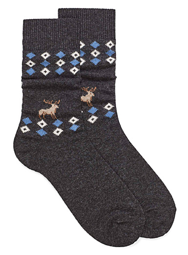 Moose argyle wool socks