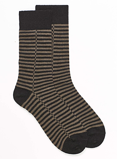 Twin-stripe wool socks